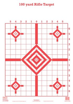 100 yd Rifle Target RED