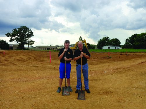 Blake and Benett break gound on the new GunFun building!